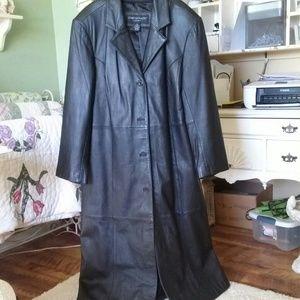 Lamb leather Maxi coat